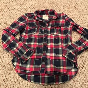 Abercrombie and Fitch button down flannel top